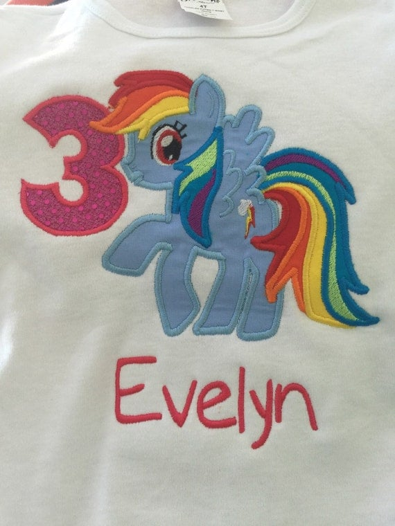 Rainbow Dash Personalized Shirt Birthday