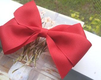 Red Hair Bows - Hair Bows - Boutique Hair Bows - Gift for Her - Girls Hair Bows - Christmas Hair Bows - Infant Hair Bows