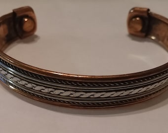 Copper Bracelet With Fitted Therapy Magnets