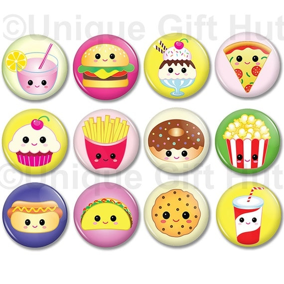 Cute Kawaii Food Character Magnets 1 25 Quot Round Cute