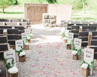 Wedding Aisle Decor 1 Corinthians 13:4-7