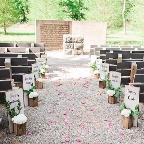 View Wedding Decor: Wedding Aisle Decor 1 Corinthians 13:4-7