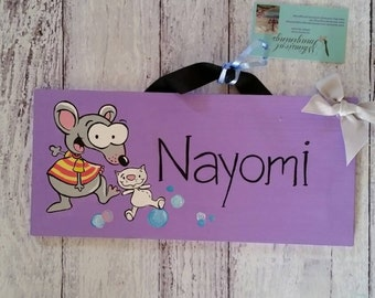 Toopy and Binoo Child's Name Sign