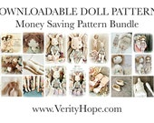 Money saving pattern bundle / Doll making / sewing pattern and tutorial / vintage style dolls / Permission to sell in Etsy shop /
