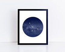 Cancer Zodiac Constellation Art Print • Buyable Frame Option