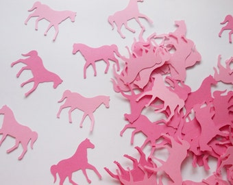 Horse Party Decoration, Pink Horse Confetti, Cowgirl, Girl Birthday Party, 100 CT.