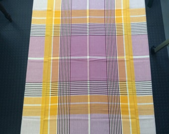 Vintage Plaid Tablecloth  #3