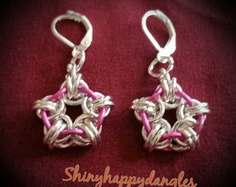 Chainmaille star earrings