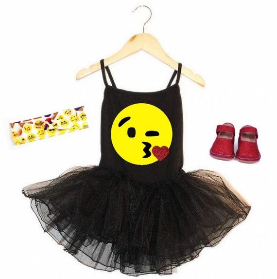 Kissy Face Emoji Tutu Dress