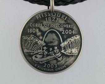 Domed Missouri State Quarter Pendant