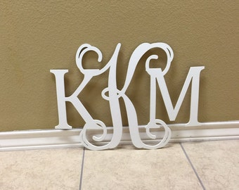 Metal Monogram Letters Wall Art Monogram Wall Art  Etsy