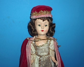 SALE: Vintage 1953 Compostion Queen Elizabeth II Doll Reliable