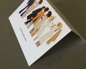 Brown Friends Greeting card