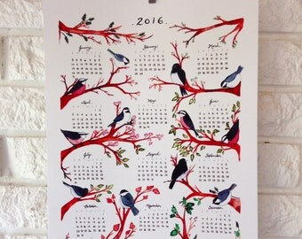 ON SALE 50% off 2016 wall calendar handmade limited edition
