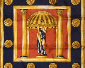 Vintage Evian Handkerchiefs 100% natural silk 24 cm/9.4 in