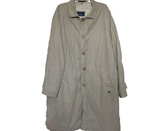 Vintage Daniel Hechter Paris men trench coat beige Alabama-Mant. BW Hermen Hirrenmoden