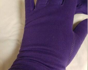 Beautiful Vintage Dark Purple Gloves