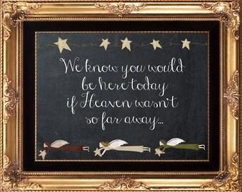wedding heaven sign, digital heaven sign, chalkboard heaven sign, rustic heaven sign, 8 x 10, digital download,  you print