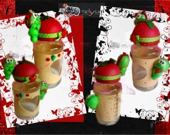 glass pot worm doll
