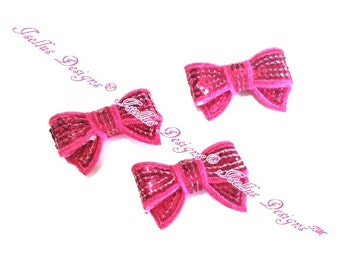 "1.4"" Hot Pink  Mini Sequin Bow"