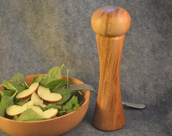 Handturned Wooden Pepper Mill - Sycamore - 8 1/2 in. tall