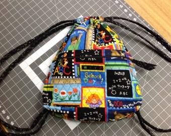 Quilted Cotton Drawstring Backsack