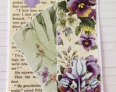Delicate Floral Handcrafted Card for Birthdays/Friendship/Thinking of You