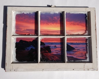 Real Photo Print Classic Vintage Window Frame Photography CRAMD Photographer Beautiful Pictures Photos Art Home Decor Furnishing Gift Beach
