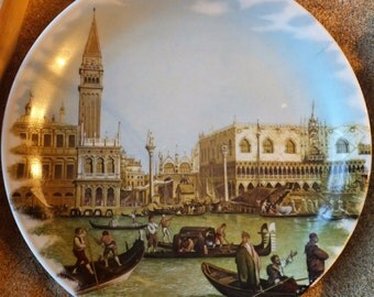 Hand Painted Plate Made in Bavaria Germany