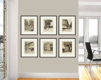 French Art Print Poster Paris Wall Art Victorian Art Antique Prints French Print  Bedroom Art French