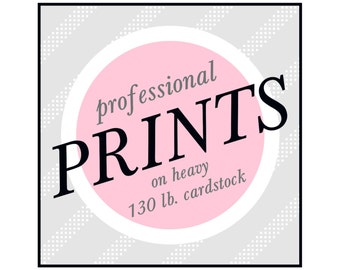 Professionally Printed Cards