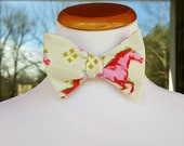 Men's Derby bowties great for the Carolina cup, Kentucky Derby Pink Mustangs