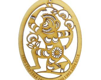 Year of the Monkey Ornament - Chinese Zodiac Ornament - Zodiac Sign Ornament - Chinese Astrology Ornament - Zodiac Gift - Chinese New Year