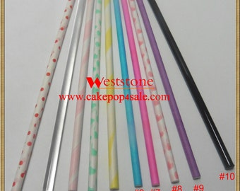 "25 pcs 6"" (15cm) colored lollipop sticks for cake pop or lollipop candy"