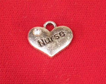"BULK! 15pc ""Nurse"" charms in antique silver style (BC1119B)"