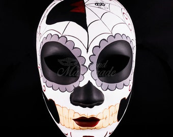 Day of the Dead Skull Mask, Full Face Mask, Dia de los Muertos Mask, Masquerade Mask for Festivals, Weddings and Costumes