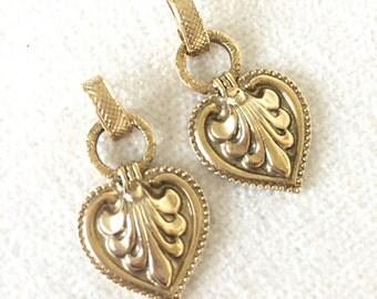 SALE Vintage heart earrings