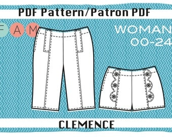 PDF Pattern of Clemence shorts-WOMAN