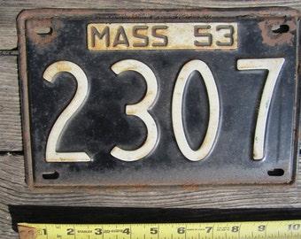 1953 Massachusetts License Plate