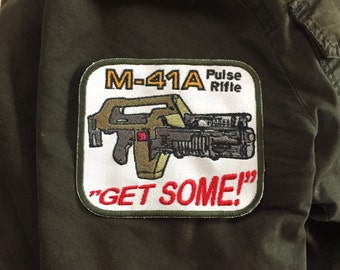 M-41 A pulse rifle Aliens movie patch 5.5in.