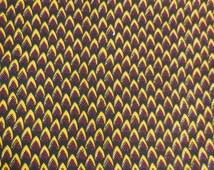 Fat Quarter High Quality Vlisco African Fabric, Rasta Ethnic Block Print, Cotton Wax Hollandais, Tribal African Clothing, Quilting Patchwork