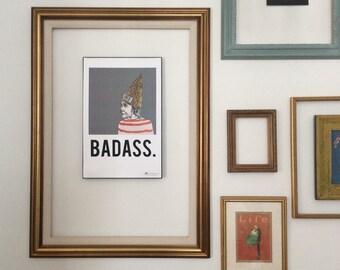 """11x17 """"Badass"""" poster"""