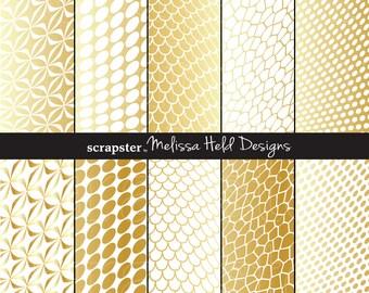 Gold Warped Geometric Patterns