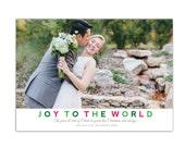 Custom Photo Christmas Card // Joy to the World // Christian Religious Christmas Card // Printable Holiday Card