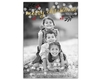 Rustic Christmas Card // Photo Christmas Cards // Holiday Cards // 5x7 Printable Christmas Photo Card // The Suarez