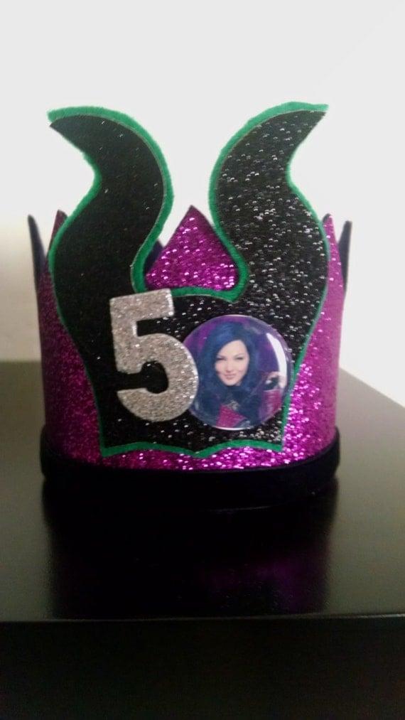 Descendants Mal Birthday Crown Headband Large Smash Cake