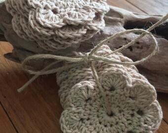 100% Organic Cotton Crochet Mandala Make-Up/ Facial Cleansing Pads