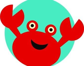 Crab svg file - crab cut file - Summer svg file - summer cut file - Beach svg files - Beach cut files