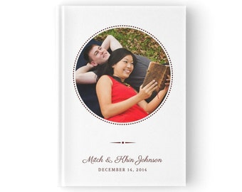 Rustic Custom Photo Wedding Guestbook. Country Wedding Guestbook. 5 x 7 Inches or 8 x 10 Inches. GB 057