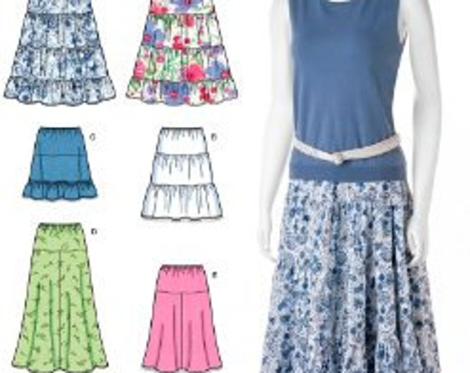 Simplicity Simple Solutions - 2609 Misses' Pull-On Skirts with Length Variations - Sewing Pattern